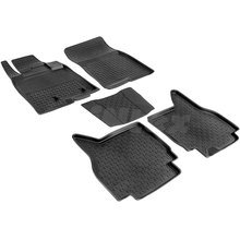 Резиновые коврики для Mitsubishi Pajero IV (2006-2017) с высокими бортиками (Seintex 86188)