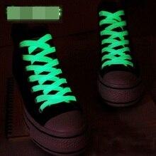 Спортивное светятся люминесцентные плоские темноте пар светящиеся = шнурки спорт см