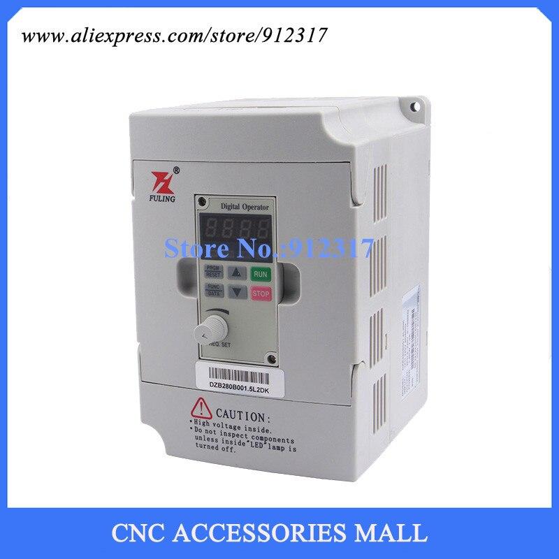 VFD Inversor 1.5kw 220 v, controlador Do motor Spindle DZB280B001.5L2DK para máquina de gravação
