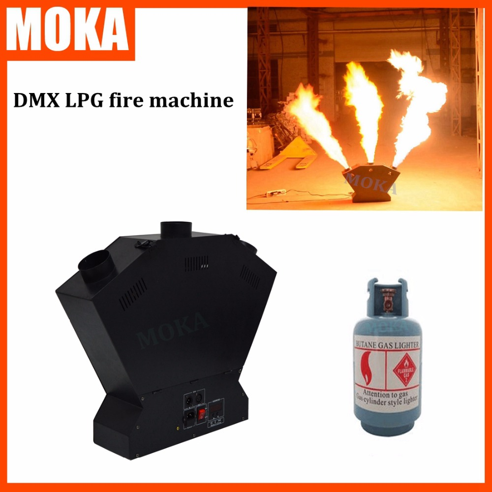 4 pcs/lot Hot-selling professional stage effect equipment lpg fire flame machine dmx  flame projector 3m height Special Effect 2pcs lot fire machine flame machine 3m height special effect fire spray machine dmx 512 fire thrower