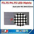 5pcs P4.75 Indoor F3.75 Dual Color Dot Matrix Led Module 304*152mm,64*32 Pixel Led Advertising Panel Indoor P4.75 LED Billboard