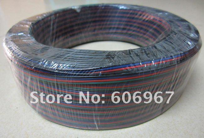 RGB прокладка 4pin провода удлинитель 100 м/лот AWG22 RGB кабель удлинитель провода для светодиодный полосы света
