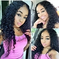 Best Quality 8A Kinky Curly U Part Wigs Jet Black #1 Malaysian Virgin Hair Upart Wigs 8-26inch Free&Fast DHL Fedex Shipping