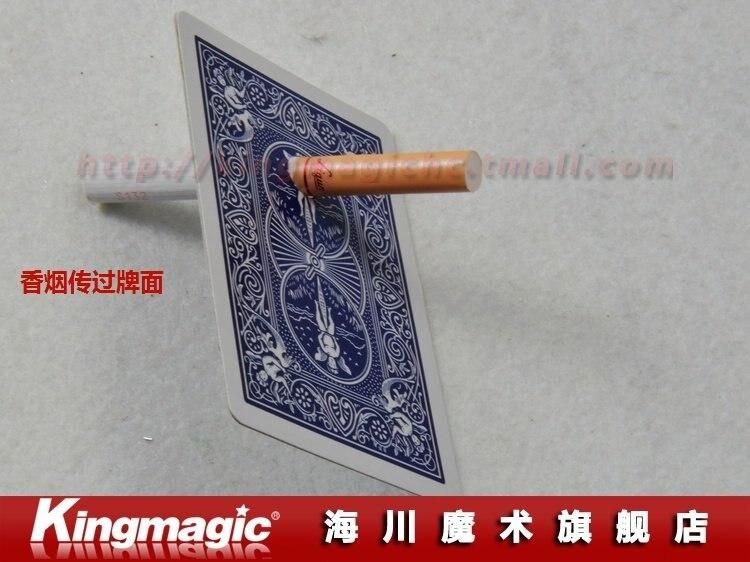 2 шт./лот сигареты через карты сигарета проникновение Карты Magic Волшебные трюки магия реквизит, партия из 2 предметов