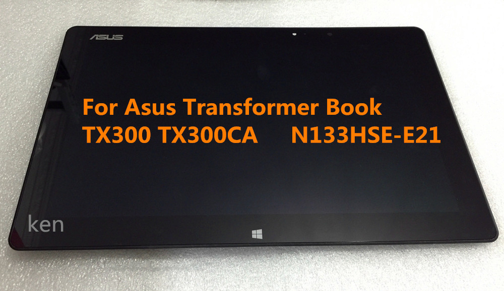 Free Shipping 13.3 inch LCD Screen Touch Digitizer For Asus Transformer Book TX300 TX300CA N133HSE-E21  new for asus transformer book tx300ca tx300ca dh71 lcd display touch screen digitizer tablet pc free shipping