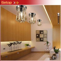 ZX K9 Crystal Glass Lustres Circular Ceiling Lamp Fixtures G4 LED Light Corridor Bedroom Livingroom Restaurant