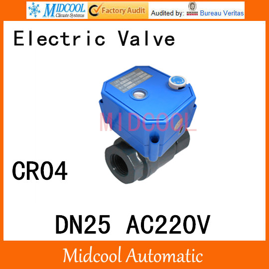 CWX-25S Stainless steel Motorized Ball Valve 1 DN25 Water control Angle valve AC220V 2 way wires CR-04 cwx 25s brass motorized ball valve 1 2 way dn25 minitype water control valve dc3 6v electrical ball valve wires cr 02