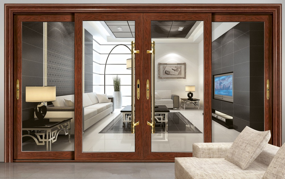 2015 big sale aluminum sliding window with mosquito screen for Large house windows for sale