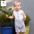 Db3308 дэйв белла лето новорожденного ребенка полосатый комбинезон одежды мальчиков ползунки ребенка 1 шт.