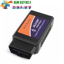 100 unids/lote DHL Libre V2.1 OLMO ELM 327 con Alta Calidad 327 Bluetooth Auto Del Coche OBD2 Interfaz de Diagnóstico Funciona En Android Torque