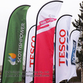 4m Custom Feather Flags, Outdoor Advertising Feather Display Beach Banner Flag, Print one side , 50pcs with Free shipping