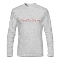 Mens T gömlek Lüks Marka Vampire Diaries Yeni Coming Tee gömlek Yaz Uzun Kollu Erkek t shirt Camisetas XS, S, M, L, XL, 2XL
