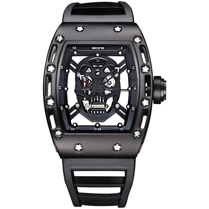 ФОТО SKONE Brand Fashion Men's Hollow Silicone Strap Sport Watches for male Special Design Quartz Wristwatches Relogio Masculino New