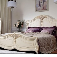 Роскошная кровать с благородным качеством и изысканной резьбой процесс/классическая мебель для спальни набор с 0402-JLBH03