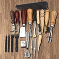 18pcs Craft DIY Handmade Tools Punch Edger Trench Device Belt Puncher Set Leather Tools Kit Stitching Carving Saddle Groover