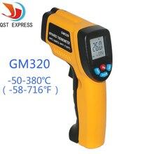 Pantalla LCD Digital Profesional Tester de Temperatura Sin contacto Termómetro Infrarrojo IR Temperatura Pistola Láser GM320