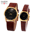 HP6010M Buckle Leather Couple Watch Lovers'  Watch Man Quartz Watch New With Tags Wristwatch For Lovers' High Quality