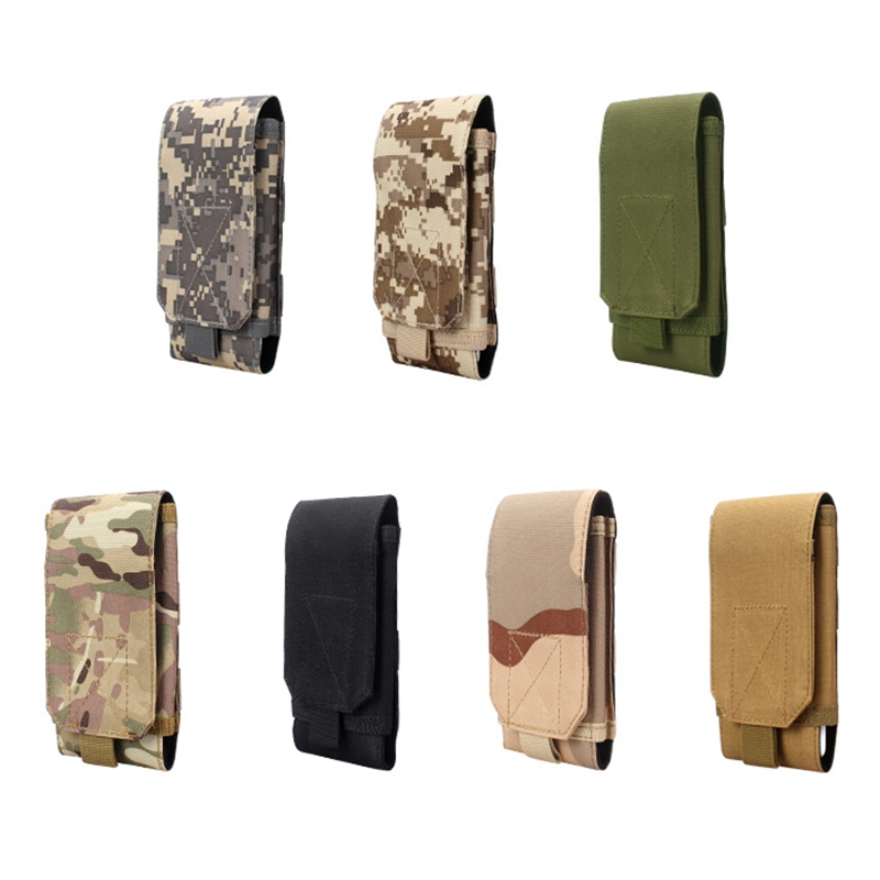 Phone Case Cover For Huawei Mate 10 9/Oneplus 5/Lg Belt Pouch Bag Tactical Holster Military Molle Hip Waist Wallet Purse Zipper(China)