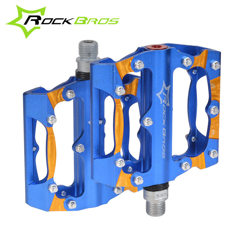 ROCKBROS Mountain Bike Bicycle Pedals Aluminum Alloy Bike Pedals Big Foot Road Riding Bike Bearing Pedals Bicycle Bike Parts