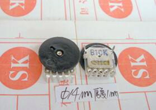 Free Shipping!! 5pcs Radio with a small thin wheel / dial / volume / 10K 5 foot double potentiometer /Electronic Component ...