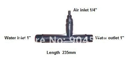 Высокое качество pvdf материал озону Вентури инжектор, Смеситель газа с размером 1 дюймов