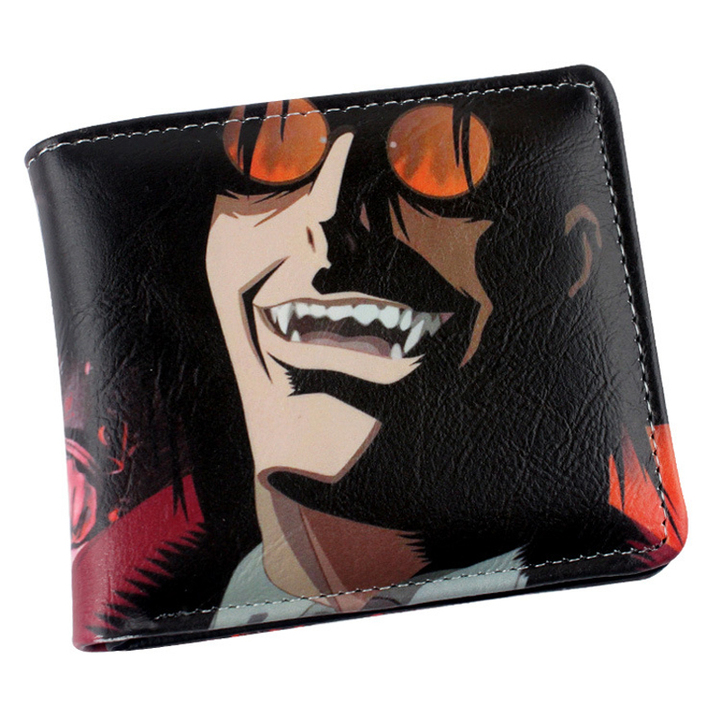 Colorful Printing PU Short Wallet Purse Japanese Anime Hellsing  Alucard Type A