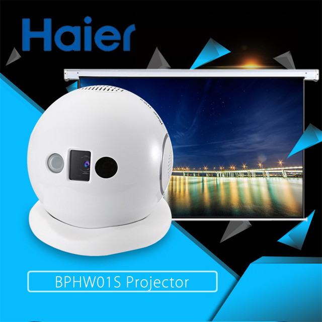 Haier BPHW01S 80 ANSI Lumen 854 x 480 Pixels 0.5 - 3m Throwing Distance Multimedia Projector Player with 1000:1 Contrast Ratio