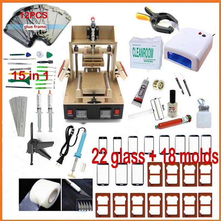 NEW Machine for Iphone Frame Laminator Vacuum LCD Separator+ Glue Remover+ Preheater+ for Samsung Middle Bezel Separator tool