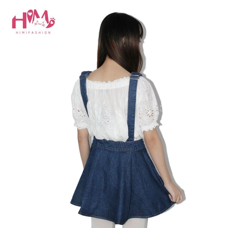 Vivi Japan Sstrap School Denim Dress For Ladies Dark Blue Removable Summer Detachable Student Overalls Dress Women Kawaii Cloth 11