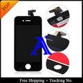 Shipping + Tracking No. 100% probado para a estrenar de 3.5 ' para el iPhone 4 4 G pantalla LCD digitalizador asamblea blanco / negro