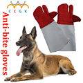 Três luvas de dedos Anti-mordida tático treinamento de animais para o gato do cão Treinamento da mordida de cobra anti-scratch protetor de Alimentação luvas