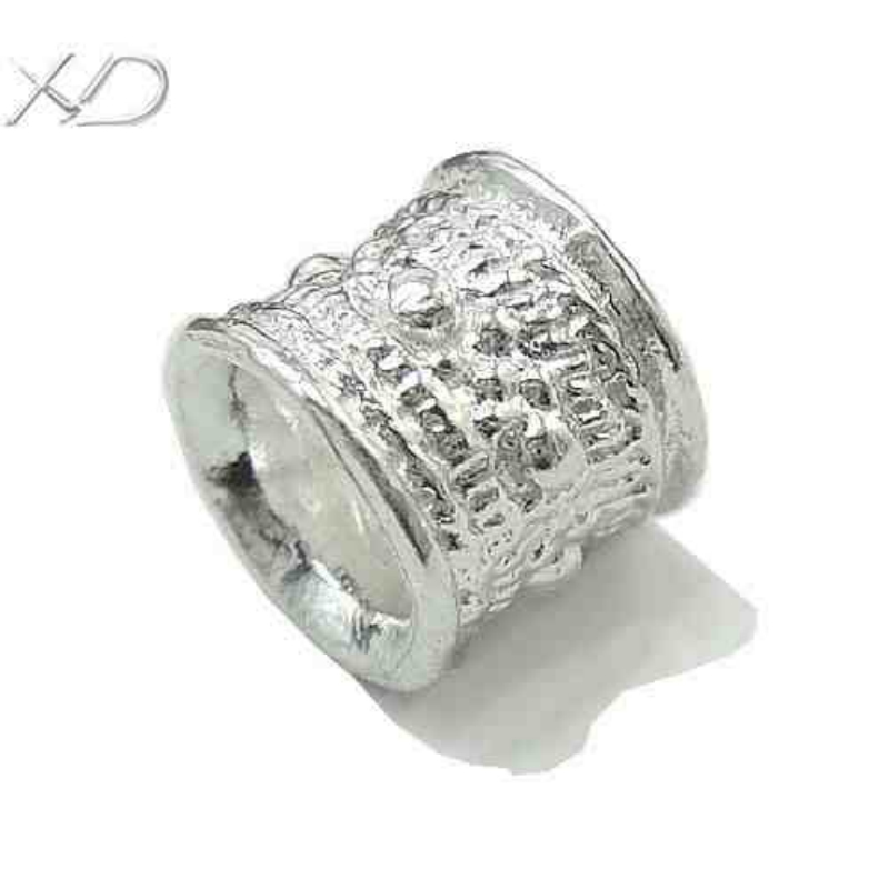 Xd sterling silver tube crimp beads mm large hole
