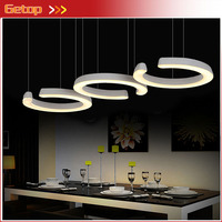 ZX Single Ring Acryl Chandelier Fish Line Shape Fixture Chassis LED Included Diningroom Livingroom Bedroom Lamp