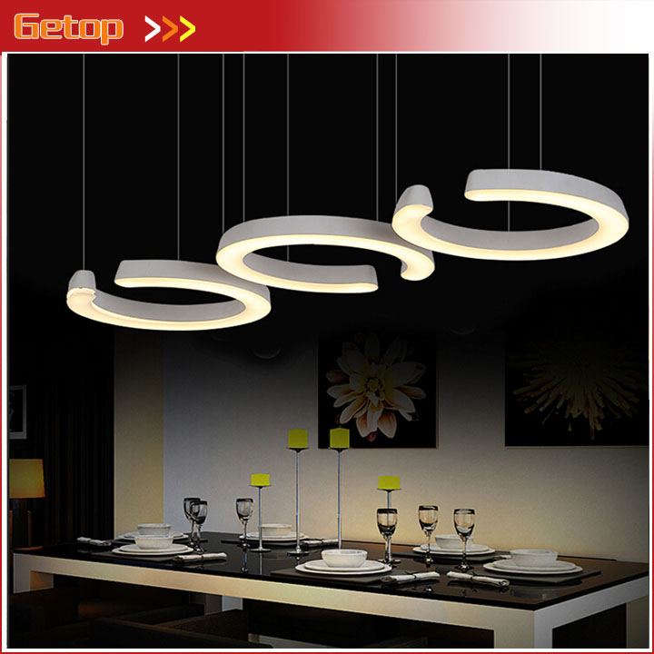 ZX Modern Contracted Single Ring Acryl LED Pendant Lamp Stepless Adjusted Leisure Light Dining Room Living Room Lamp Fixture zx modern round acryl pendant lamp simple restaurant led chip droplight single head study bar shop office lamp free shipping
