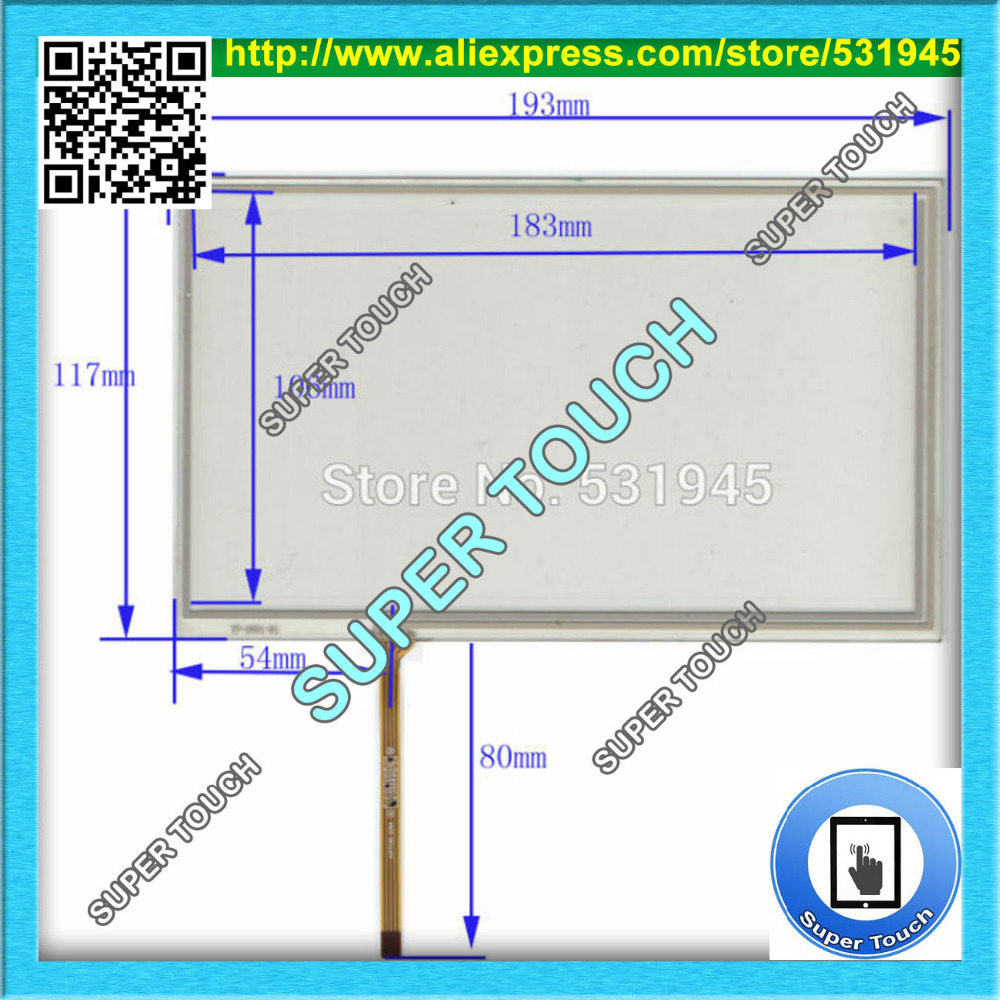 AntiStatic Sheld.Bag  POST 8 inch 4-wire resistive Touch Panel 193*117 Navigator TOUCH SCREEN 193mm*117mm GLASS LCD display new usp 4484038 0p 29 8 4 inch touch screen post 8 4 inch resistive touch panel for industry applications