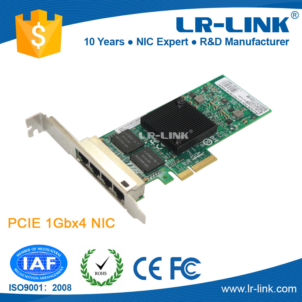 LR-LINK LREC9714HT Intel I350 Chipset 10/100/1000Mbps PCIe x4 Quad Port Network Card Compatible with Intel I350-T4 адаптер dell intel ethernet i350 1gb 4p 540 bbhf