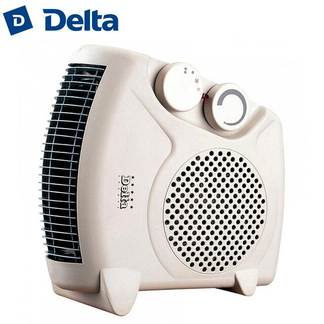 Тепловентилятор DELTA D-901/1, 2000 Вт, корпус из термостойкого пластика, световой индикатор работы, два режима нагрева, холодный обдув, регулировка температуры нагрева, защита от перегрева.