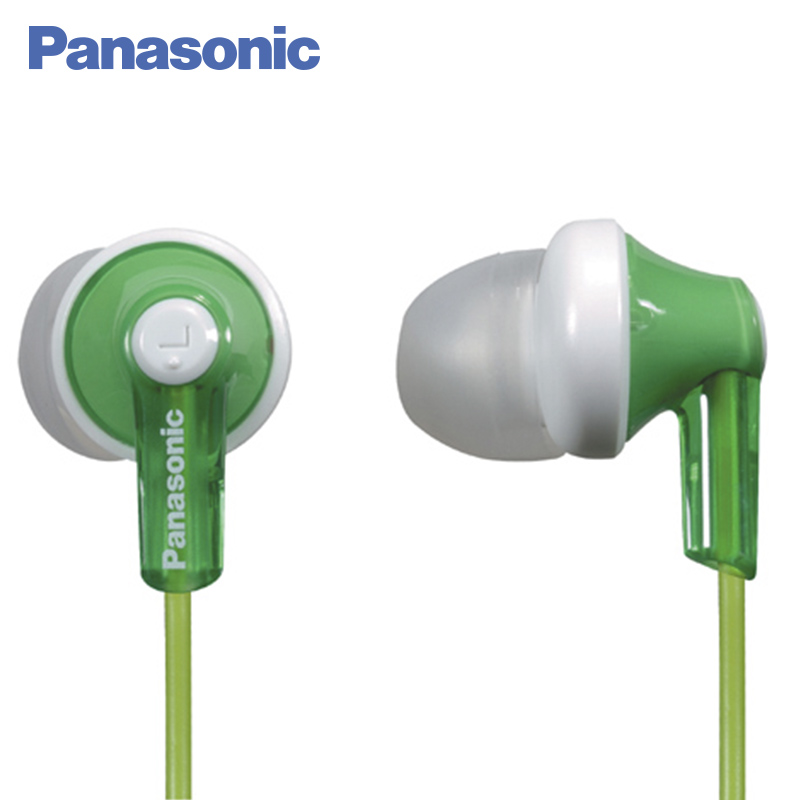 Panasonic RP-HJE118GUG In-Ear miniature channel type Ergonomic design Ergofit panasonic rp tcm50e k in ear headphones microphone and remote control compatible with smartphone clear bass sound custom design