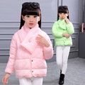 Girls Winter Light COTTON-PAD Coat Kids Jacket Long SLEEVE Children Clothes Warm Parka Outerwear Snowsuit