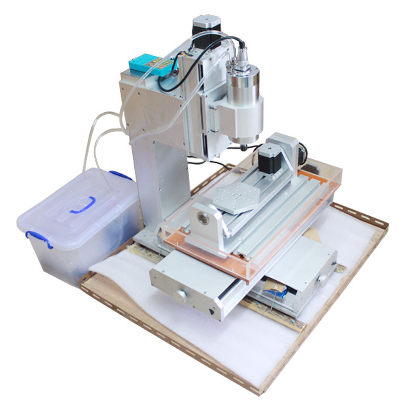 цена mini CNC Router 5 Axis CNC Machine 2.2KW Drilling Milling Machine 3040 for metal wood онлайн в 2017 году