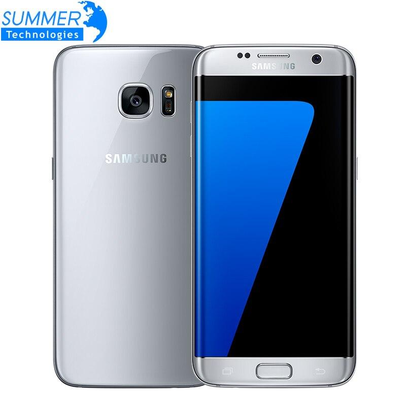 "Original Samsung Galaxy S7 Edge Mobile Phone 4G LTE Quad Core 5.5"" 4GB RAM 32GB ROM 12MP NFC WIFI GPS Waterproof Smartphone"