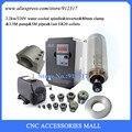 Набор шпинделя с водяным охлаждением 2.2KW 220V CNC мотор шпинделя гравировки + 2.2KW VFD + 80 мм зажим + водяной насос/труба + 13 шт ER20 Цанга