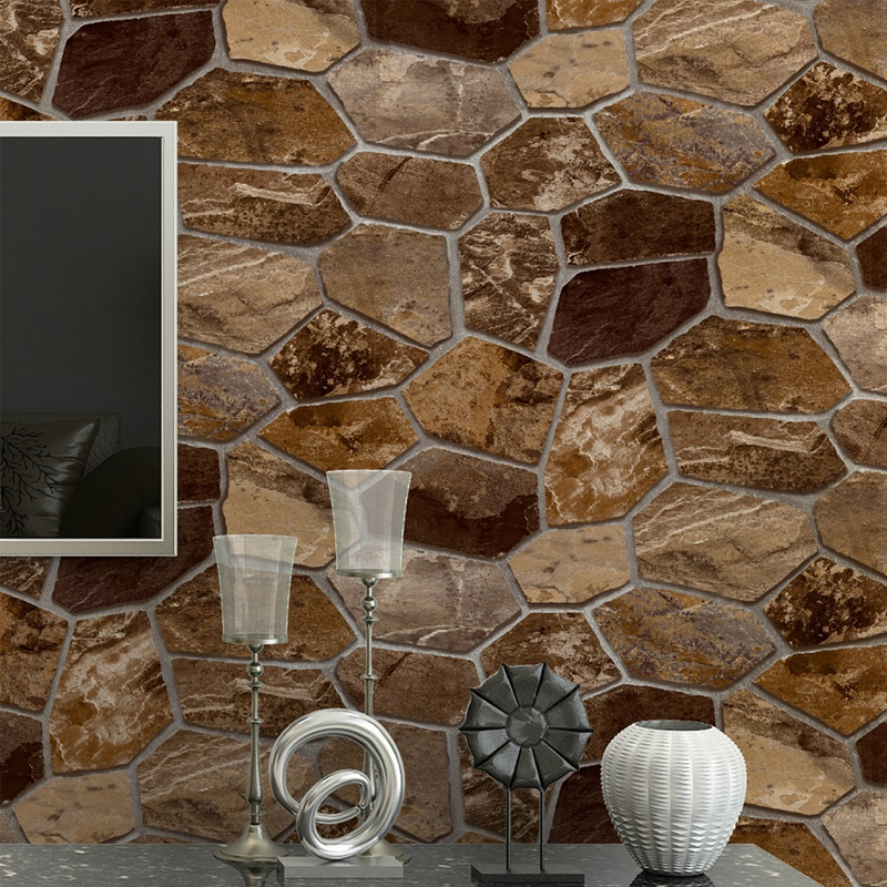 Buy 3d pvc embossed stone pattern wallpaper wall papers home decor living room Home decor stores utah county