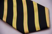 ts3016n желтый оранжевый черный в полоску 100% шелк нью-сплетенные жаккардом классические мужские галстук