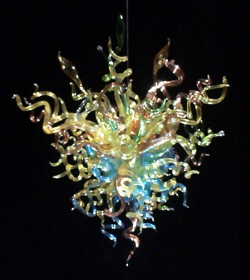 Chihuly Style Well Designed Energy Saving LED Crystal Blown Glass Pretty Smart Pop Ceiling Chandelier