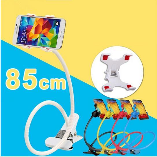 85 cm Long Arm 360 Rotating Bed Tablet Universal Car Holder Stand Lazy Bed Phone Holder Selfie Mount for iphone smartphone