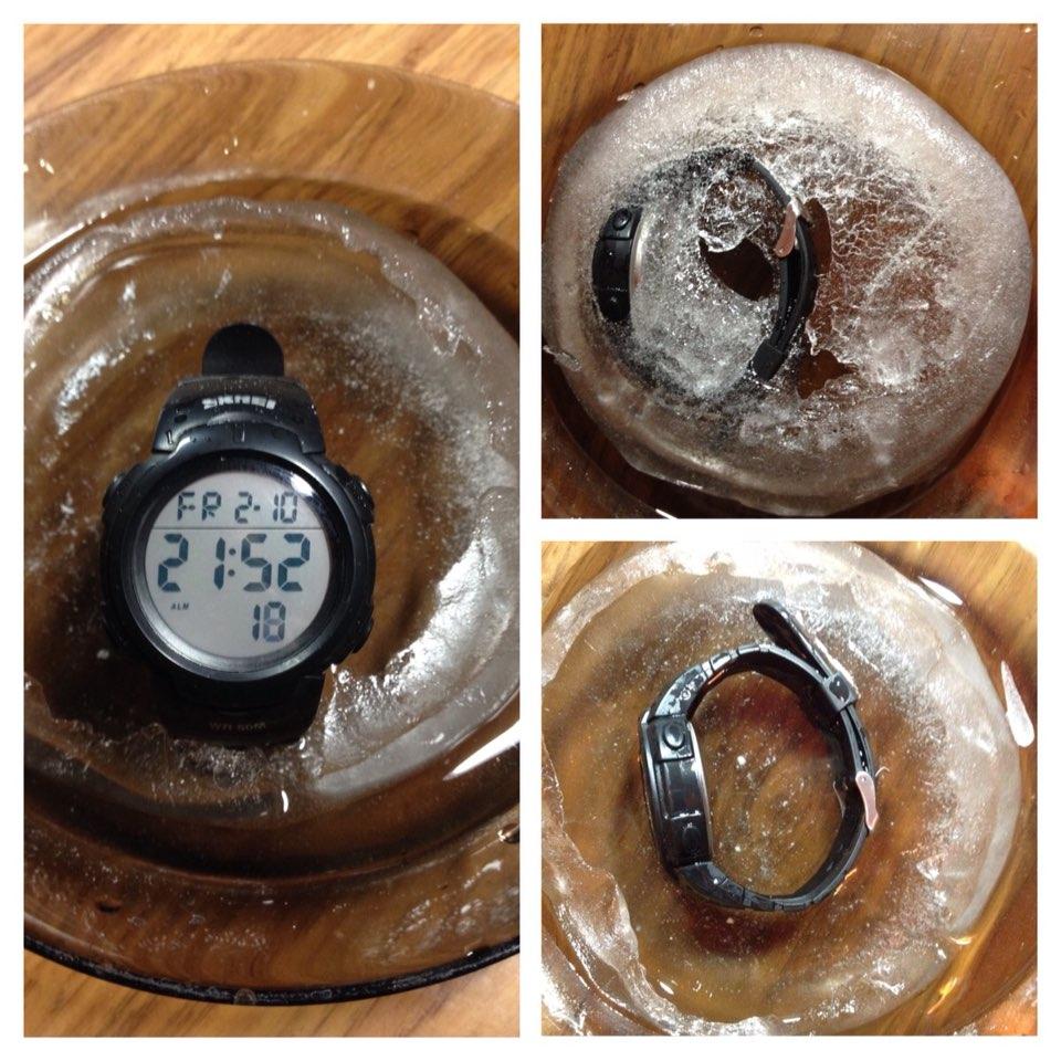 Часы отличные,заказываю не в первый раз. Пришли быстро,трек отслуживался до конца. Действительно водонепроницаемые и стойкие к морозу. Проверенно!