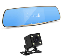 5 Inch Car Camera Car Dvr Dual Lens Review Mirror Digital Video Recorder Auto Registrator Camcorder Full HD 1080P Camera Car Dvr