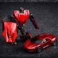 TMNT Литья Под Давлением Металл Робот Преобразования Автомобиль Игрушки, 10 см Железный Человек Человек-Паук Халк Cars Toys Для Детей Рождественские Подарки Brinquedos