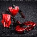 TMNT Diecast Metal Robot Transformation Car Toy, 10cm Iron Man Spiderman Hulk Cars Toys For Children Christmas Gifts Brinquedos
